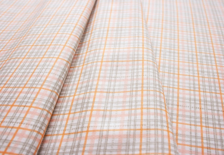 Anthology Fabrics Lullaby Baby PR557 Check fluorescent orange