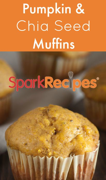 Pumpkin Chia Seeds Muffins. You'll love the combined flavor of these two super foods!