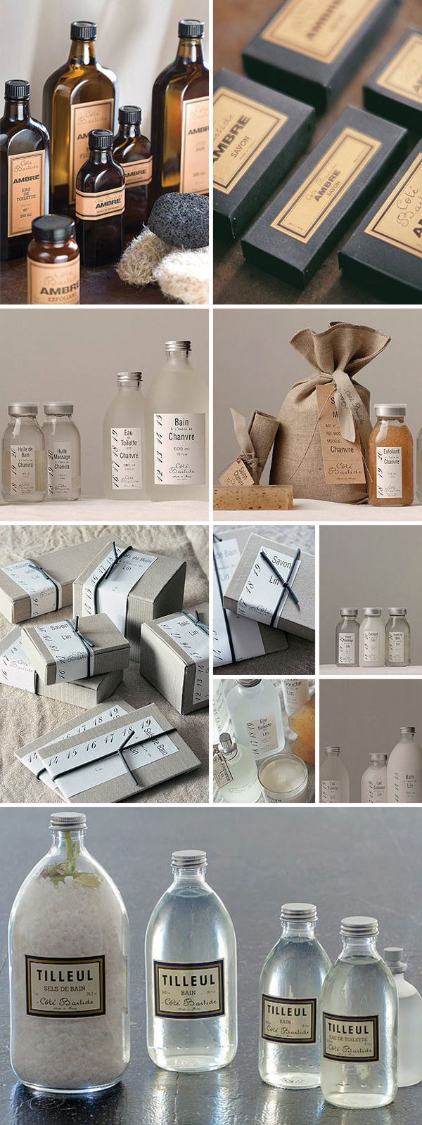 Beautiful packaging for bath & body PD