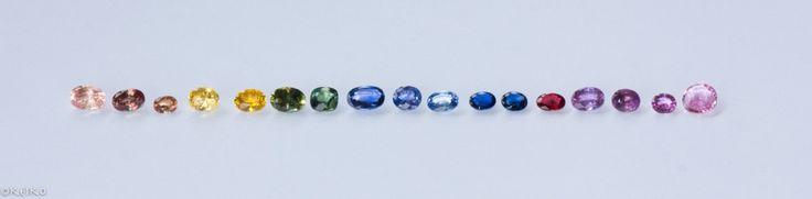 Sapphire colour chart #srisrisapphire #sapphire #gems #jewellery #srilanka #japan #australia