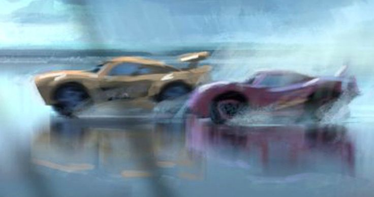 'Cars 3' Concept Art Introduces New Character Cruz Ramirez -- Get your first look at Lightning McQueen and new character Cruz Ramirez in images from Disney Pixar's 'Cars 3', debuting next summer. -- http://movieweb.com/cars-3-new-character-cruz-ramirez-concept-art/