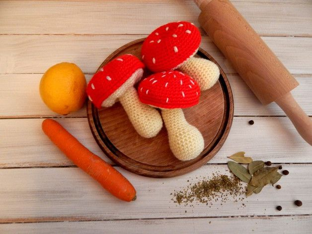 Zabawka dla dziecka - grzyby - komplet - mellcja - Maskotki i pluszaki