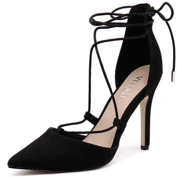 Verali Hilary Black (€30) ❤ liked on Polyvore featuring shoes, pumps, black pointed-toe pumps, platform shoes, black pointy toe pumps, black high heel shoes and black pointy-toe pumps