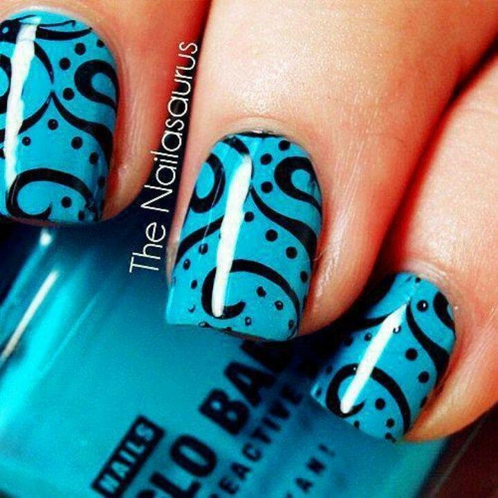 Very nice, but complicated to do on your own nails. Maybe you do one hand and have an artistic friend do another. Group nail art?