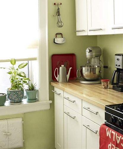 Green Colors For Kitchen Cabinets