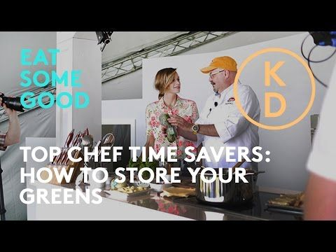 HOW TO Keep Your Greens Fresh with Massimo Capra and Kim D'Eon: Top Chef Kitchen Time Savers - YouTube