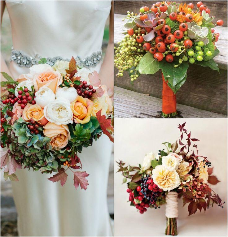 25потрясающих осенних букетов невесты