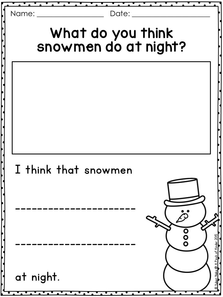 Snowmen at Night Writing Freebie