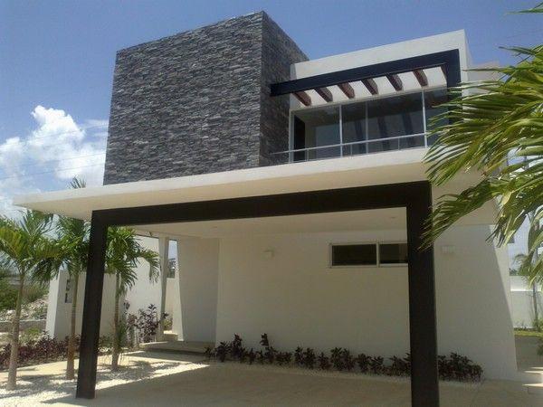 Fachadas de casas minimalistas de dos pisos con balcon - Decoracion exteriores casas modernas ...