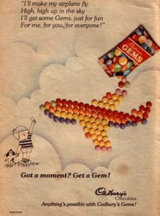 Cadburys Gems - researched & curated by www.stockimagebank.com