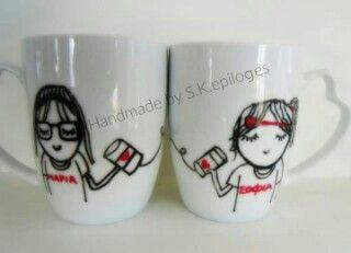 #handmade #painted #mug #frieds