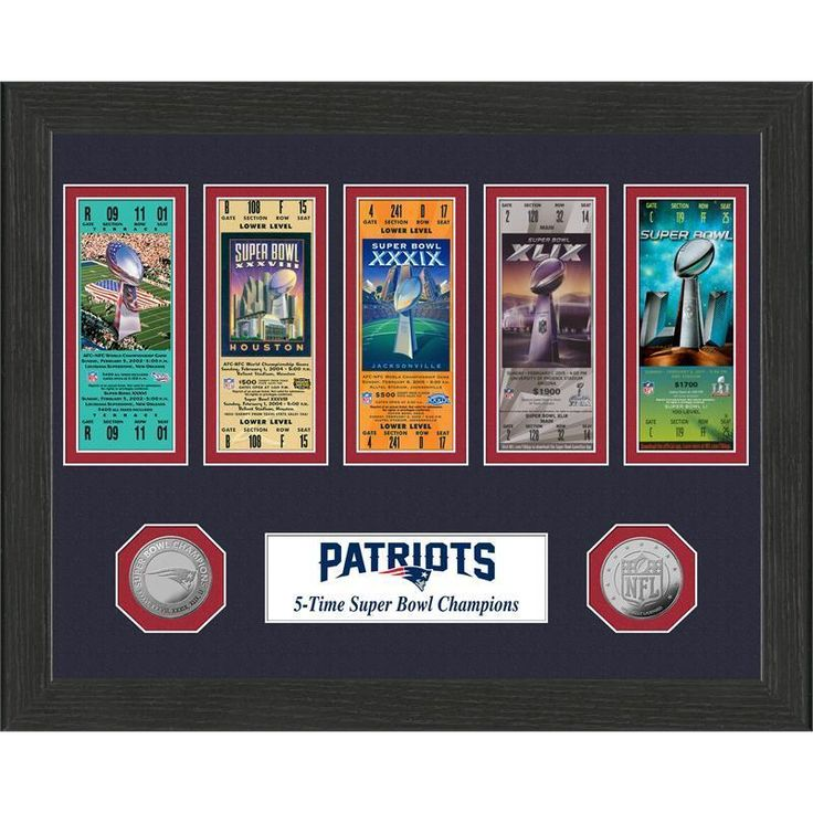 Highland New England Patriots 5-Time Super Bowl Champions Ticket Collection