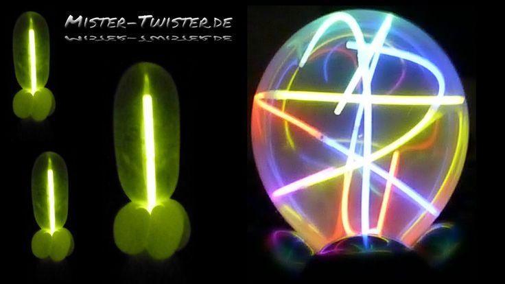 Balloon light column decoration, Ballon Licht Säule, Dekoration, Party, ...