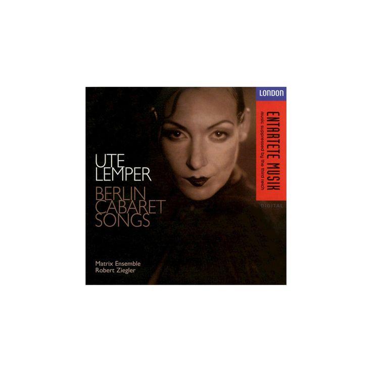Ute lemper - Berlin cabaret songs-german version (CD)