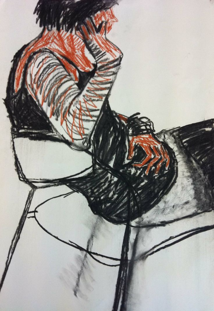 Sitting woman by Cecilia Kok (charcoal on paper 90x60cm)