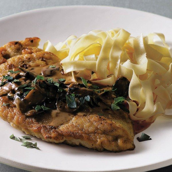 Food Editor/Stylist: Paul Grimes         Father: Elmer M. Grimes, Haddonfield, NJ         My dad loved mushrooms, and he always ordered veal Marsala when we went out to restaurants. My mom didn't buy veal very often, so she adapted this recipe for chicken and made it on special occasions. He was also very fond of white Burgundy wine, which makes a wonderful accompaniment to this dish.
