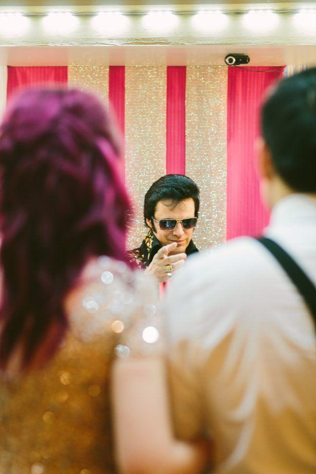 Kitsch Meets Urban Las Vegas Elopement · Rock n Roll Bride