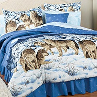 Midnight Wolves King Comforter Set Comforter Sets King