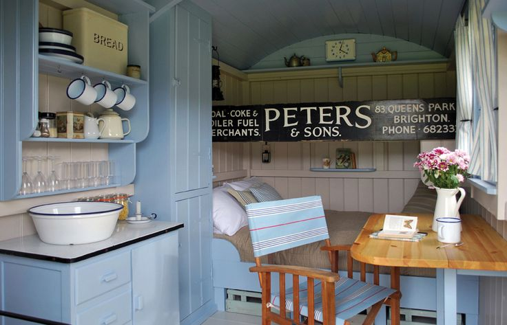 LOVE this!! Love the drop table under the window. Gallery - Plankbridge Shepherd Hut's Dorset