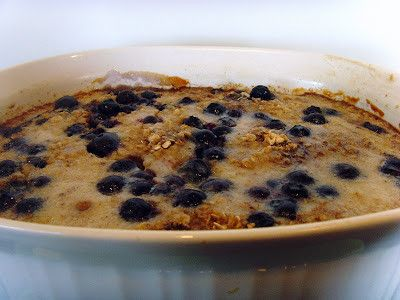 Baked Banana and Blueberry Oatmeal - Food Folks and Fun