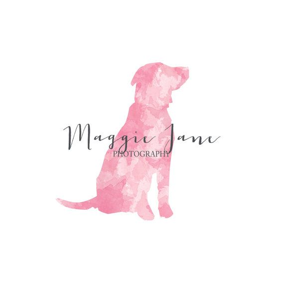 Pet Photography logo Watercolor Logo by KimberlyPaigeDesigns