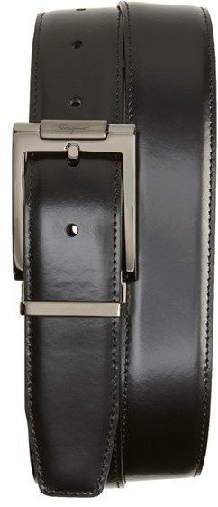 Men's Salvatore Ferragamo Reversible Leather Belt