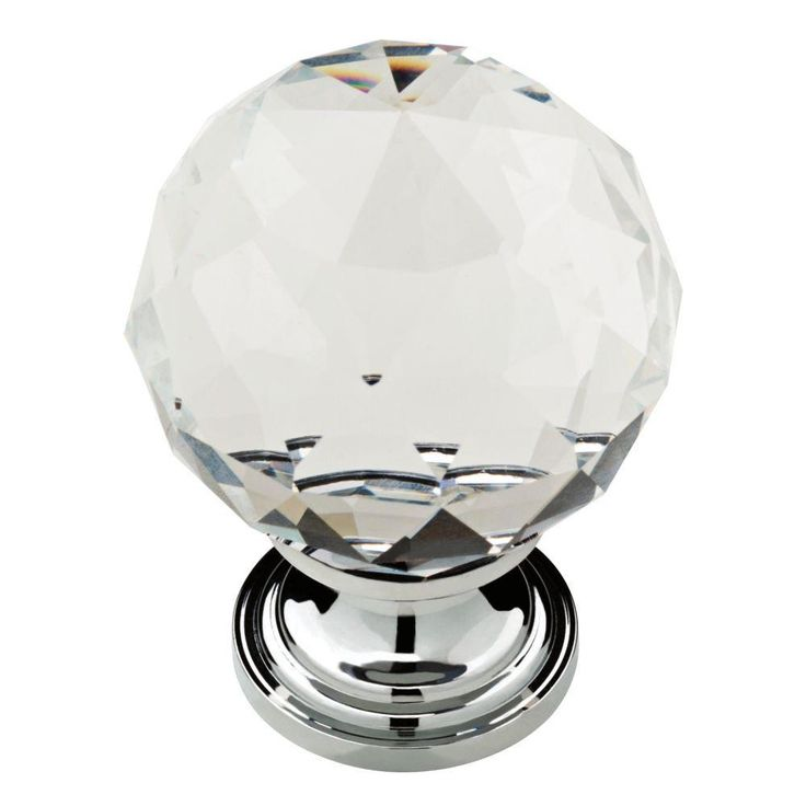 chrome clear faceted glass ball cabinet knob the home depot hardware knobs installation template canada