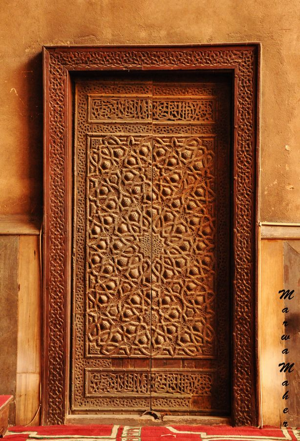 Door inside sultan hassan mosque cairo by marwa maher for Window palla design