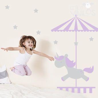 Vinilos para decorar el cuarto de tu hija http://www.guiapurpura.com.ar/vinilos-decorativos-para-chicos