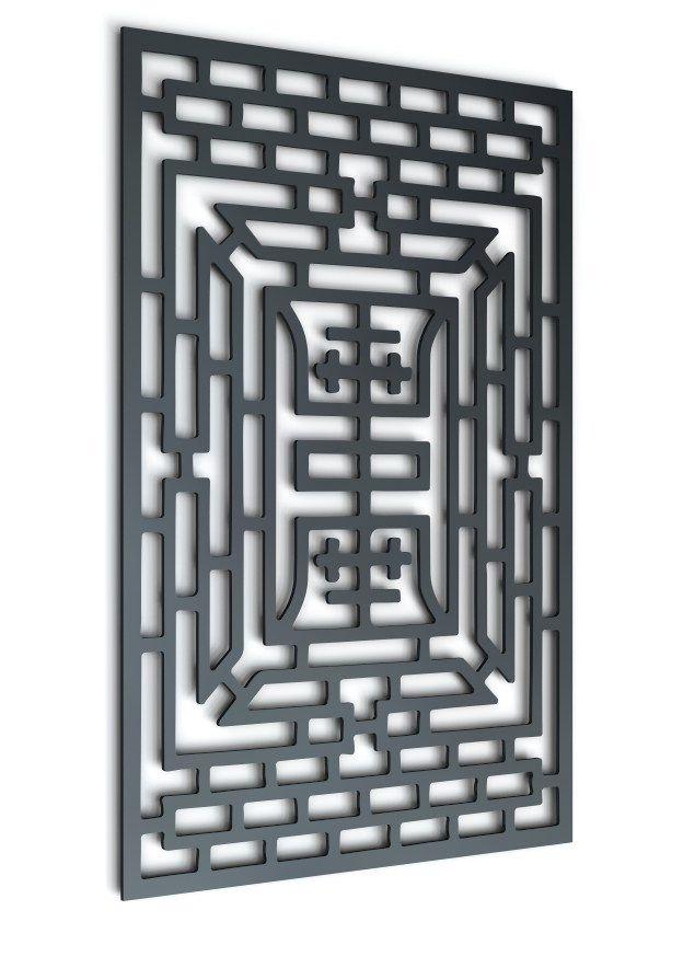 asian pattern scroll