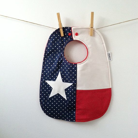 Texas Baby Gift  Baby Bib with Snaps by HipViolet on Etsy, $25.00