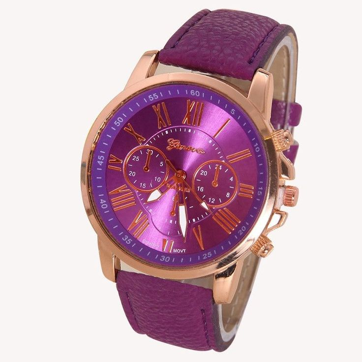 This charmingly elegant Geneva watch will look great on your wrist or as a gift to a loved one. Item specifications below: Item Type: Wristwatches Feature: Shock Resistant Band Width: 2 cm Condition: