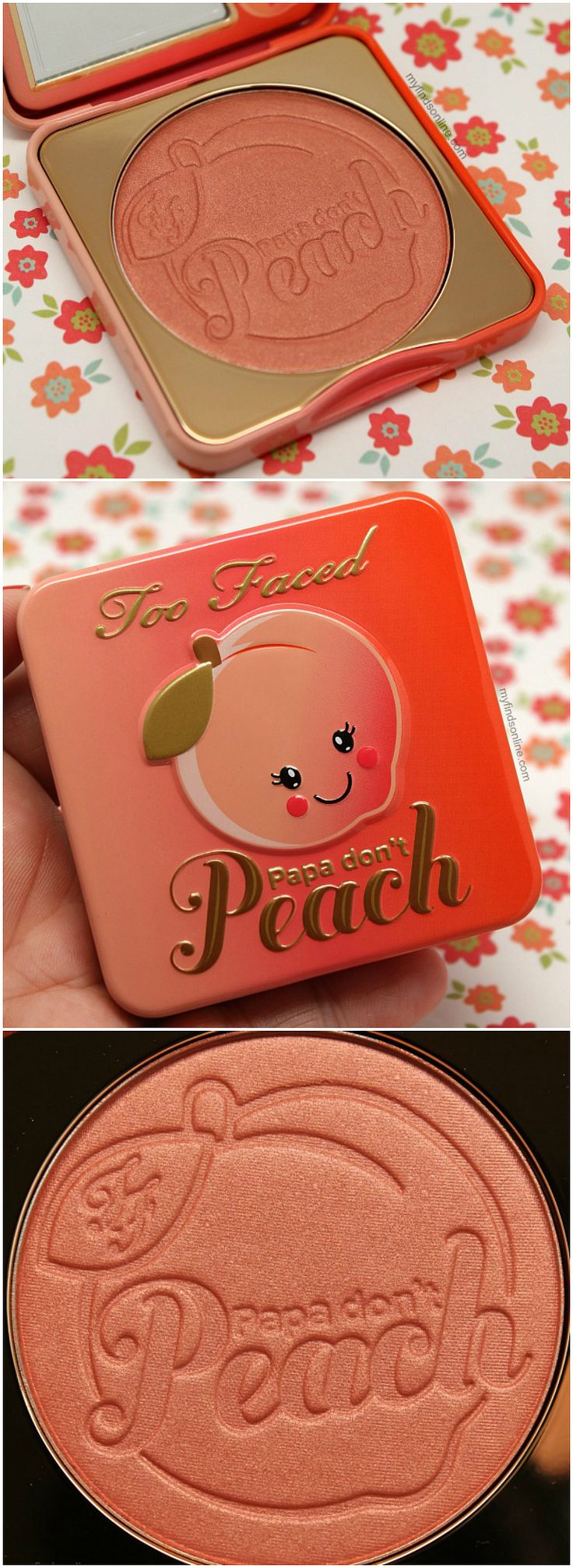 Too Faced Papa Don't Peach Blush / myfindsonline.com