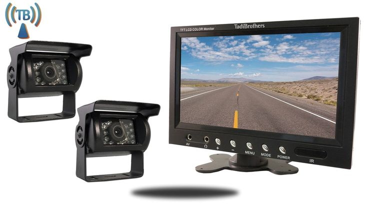 Tadibrothers 7 Inch Monitor and two Wireless 120 Degree Mounted RV Backup Cameras (RV Backup System)