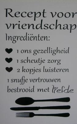 Recept voor vriendschap