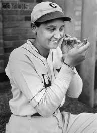 """Virne Beatrice """"Jackie"""" Mitchell Gilbert (Aug 29,1912,13or14–Jan 7,1987) was one of the first female pitchers in professional baseball history.Pitching for the Chattanooga Lookouts Class AA minor league baseball team in an exhibition game against the New York Yankees, she struck out Babe Ruth and Lou Gehrig. A few days after Mitchell struck out Ruth and Gehrig, baseball commissioner Kenesaw Landis voided her contract and declared women unfit to play baseball as the game was """"too strenuous"""""""