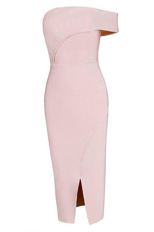 Go's Wrap Design Off the Shoulder Dress