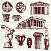 Elementi antichi della Grecia — Vettoriale Stock