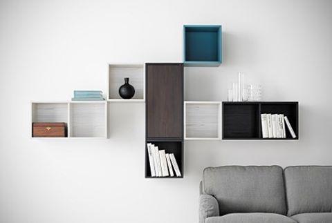 VALJE veggskap er nesten som en settekasse – men i større format. Perfekt til oppbevaring av alt fra ting du vil vise frem, til ting du helst vil skjule.   #VALJE #hyller #IKEA  #IKEAinspirasjon #inspirasjon #interiør #interior #stue #livingroom