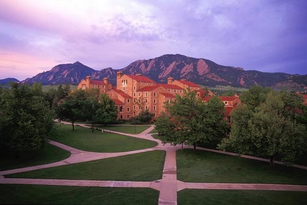 Farrand, as seen from the Engineering Quad: Colorado Privacy, Schools, Colorado Bouldering