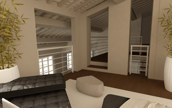 Renovation of an historical palace in the city centre of Lucca - Apartment n.4