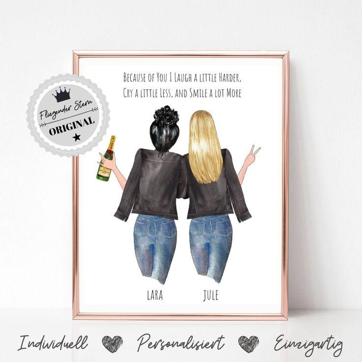 Geschenk beste Freundin | Beste Freundin Geburtstag | Geschenkidee | Freundin Bild | Schwester Geschenkidee | Geschenkideen Freundin Poster
