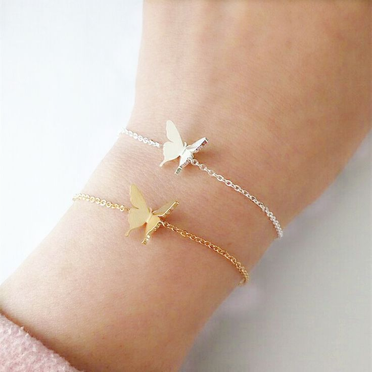 Promise Bracelet 2017 Boho Jewelry Stainless Steel Wristband Chain Dainty Women Butterfly Charm Bracelets Bridesmaid Gifts BFF #Affiliate