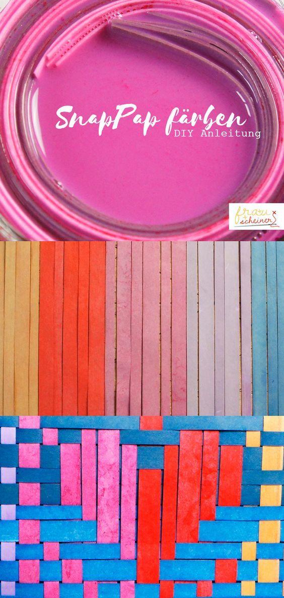 SnapPap färben - In meinem Blog stelle ich Dir vier Technicken vor, wie Du SnapPap färben kannst. diy, diy Idee, snaply, Anleitung