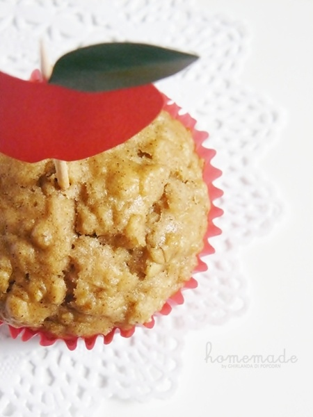 Muffin Avena e Mele by Ghirlanda di Popcorn @ Apple Pie & Shabby Style