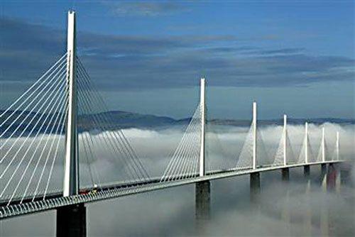 Millau Bridge (France): World's Tallest Vehicular Bridge.