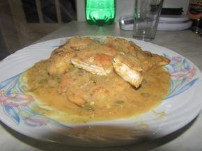 Bucataria tuturor: Piept de pui cu sos de unt cu lamaie si capere(piccata).