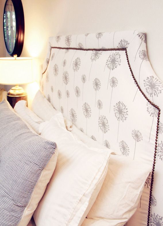 how to make a bed headboard fabric