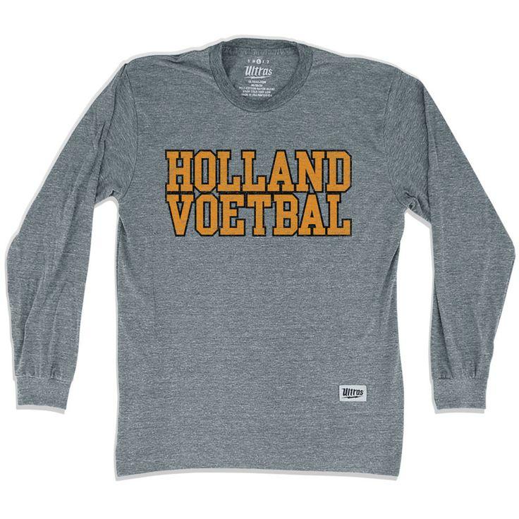 Holland Voetbal Vintage Soccer Long Sleeve T-Shirt