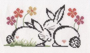 Bunnies Free Cross Stitch Pattern Chart